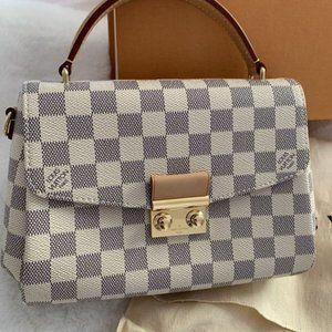Awesome Croisette Damier Azur Fashion Tote Crossbody Bag